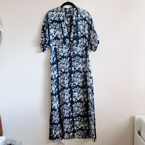 Reformation Blue Floral Maxi Dress